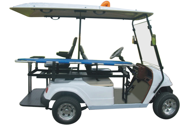 electric ambulance,with stretcher, using in playground on golf cart trolley, golf cart ambulance, golf cart upholstery, golf cart wheel chair, golf cart bed,