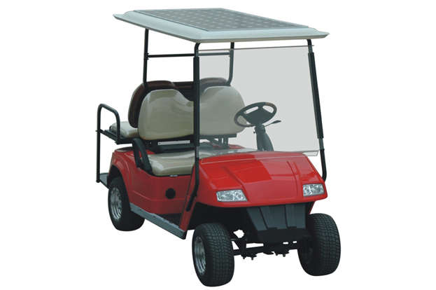 Golf Cart with solar panel